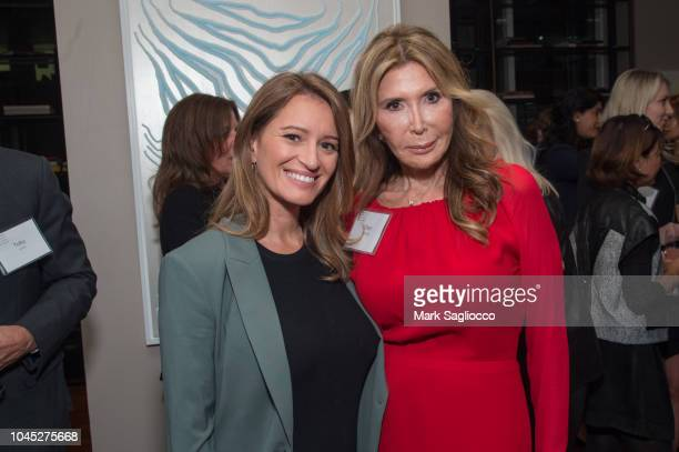 Moderator Katy Tur and CoChair Cheri Kaufman attend the National Women's History Museum New York Salon at The Core Club on October 3 2018 in New York...