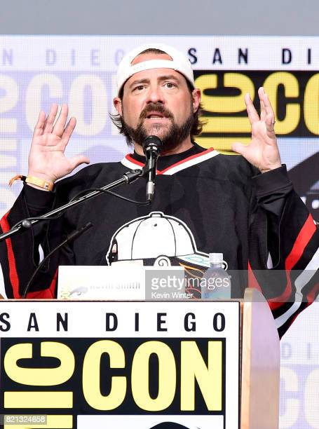 Moderator Kevin Smith at Dirk Gently's Holistic Detective Agency: BBC America Official Panel during Comic-Con International 2017 at San Diego...