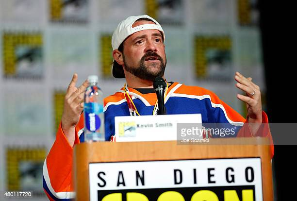 Moderator Kevin Smith speaks onstage at MTV's 'Teen Wolf' panel during ComicCon International 2015 at the San Diego Convention Center on July 9 2015...