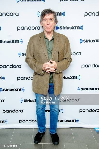 Moderator Kurt Loder as singer/songwriter Iggy Pop discusses his career during a town hall at SiriusXM Studios on September 12 2019 in New York City
