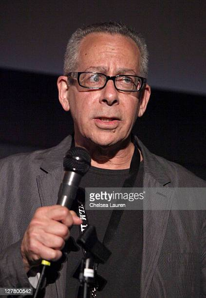 """Moderator LAFF Artistic Director David Ansen speaks onstage at the """"Familiar Ground"""" Q & A during the 2011 Los Angeles Film Festival held at Regal..."""