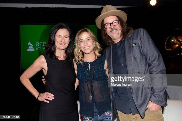 Moderator Leslie Fram SingerSongwriter Sheryl Crow and Songwriter Jeff Trott featured at GRAMMY Up Close Personal at W Hotel Buckhead on June 25 2017...