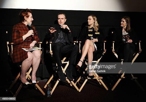 Moderator Lynn Hirschberg director John Crowley actress Saoirse Ronan and producer Finola Dwyer attend the Brooklyn New York Premiere at AMC Loews...