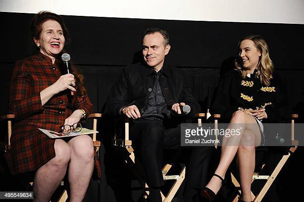 Moderator Lynn Hirschberg director John Crowley and actress Saoirse Ronan attend the Brooklyn New York Premiere at AMC Loews Lincoln Square on...