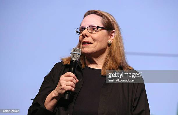 Moderator Madelyn Hammond speaks onstage during Deadline's The Contenders at DGA Theater on November 1 2014 in Los Angeles California