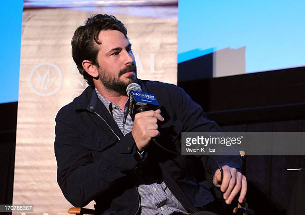 Moderator Mark Boal attends An Evening With CostasGavras during the 2013 Los Angeles Film Festival at Regal Cinemas LA Live on June 17 2013 in Los...