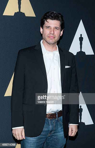 Moderator Max Brooks arrives at the Academy Of Motion Picture Arts And Sciences' 20th Anniversary Screening Of The Shawshank Redemption at AMPAS...