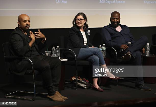 Moderator Mike Muse producer Donna Gigliotti and writer/ director Malcolm Lee speak as The Academy of Motion Picture Arts Sciences presents the...