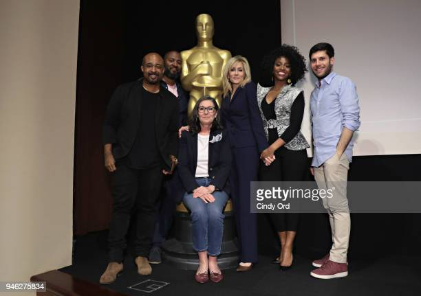 Moderator Mike Muse producer Donna Gigliotti writer/ director Malcolm Lee actress Judith Light actress Teyonah Parris and writer Michael H Weber...