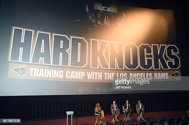 Moderator Molly McGrath Senior Coordinating Producer at NFL Films Patrick Kelleher General Manager of the Los Angeles Rams Les Snead and HBO Sports...
