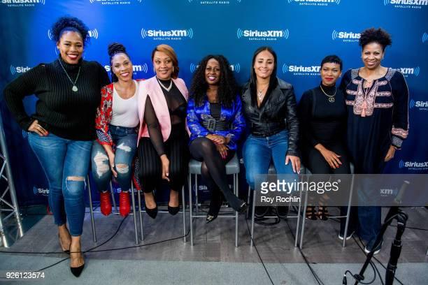 Moderator Nicci Gilbert with Danielle Jones Angela Stanton Tamika Wright Brandi Davis and Iesha Jeng moderator Karen Hunter discuss the SiriusXM...