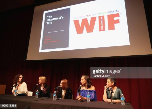Moderator Nicole Sperling executive produecr Kira Snyder actress Madeline Brewer actress Amanda Brugel and costume designer Ane Craptree speak...