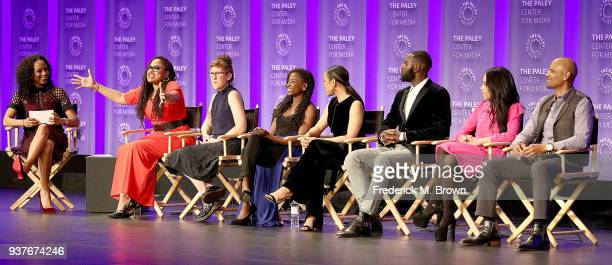 Moderator Nischelle Turner creator/executive producer Ava DuVernay executive producer Kat Candler actress Rutina Wesley actress DawnLyen Gardner...
