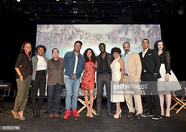 Moderator Nischelle Turner executive producers/creators Misha Green and Joe Pokaski and actors Anthony Hemingway Jurnee SmollettBell Aldis Hodge...