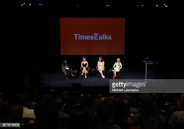 Moderator Parul Sehgal actress Brie Larson writer Jeannette Walls and actress Naomi Watts take part in the TimesTalks Series presentation of The...