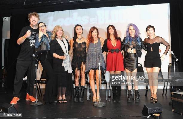 Moderator Pat Jankiewicz Scream Queens Asun Ortega Beverly Randolph Christine Nguyen Holly Fields Max Wasa Elissa Dowling and Naomi Grossman attend...