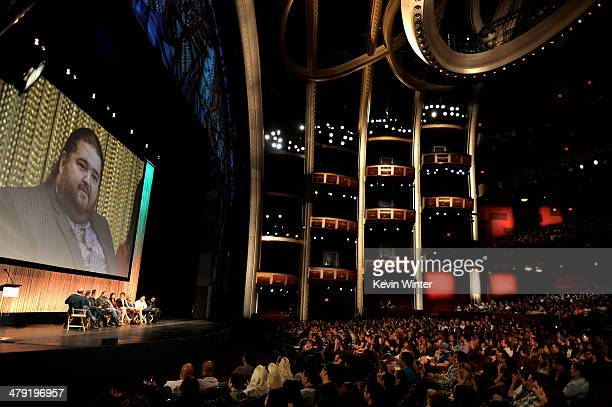 Moderator Paul Scheer, executive producers Damon Lindelof, Carlton Cuse, actors Josh Holloway, Jorge Garcia, Yunjin Kim, Ian Somerhalder, Maggie...