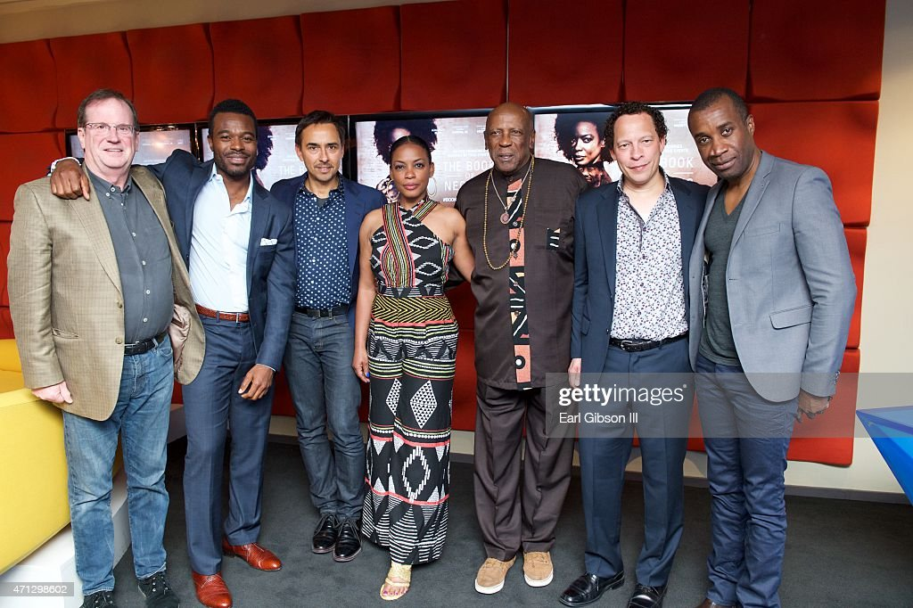 Moderator Pete Hammond, Actor Lyric Bent, Producer Damon D'Oliveira, Actress Aunjanue Ellis, Actor Louis Gossett Jr., Author Lawrence Hill and Executive Producer Clement Virgo attend the FYC Screening Of BET's Miniseries 'The Book Of Negros' at SilverScreen Theater at the Pacific Design Center on April 26, 2015 in West Hollywood, California.