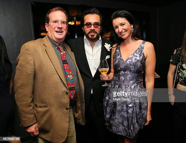 Moderator Pete Hammond actor Steve Carell and Dom Perignon's Julia Fitzroy visit the Dom Perignon Lounge after the Outstanding Performer of the Year...