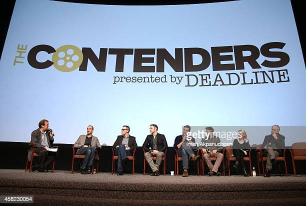 Moderator Pete Hammond directors Anthony Stacchi and director Graham Annable producers Travis Knight and Scott Stuber actor/producer Jeremy Renner...