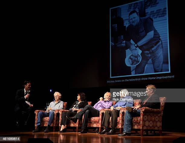 Moderator Peter Cooper of the Country Music Hall of Fame and Museum and musicians Gene Lorenzo Mary Arnold Miller Kenny Rogers Mike Settle and Terry...