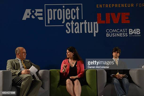 Moderator Peter Howe opens Project Startup Live as Janae Duane founder of the Revolution Institute Brian Meece founder and CEO RocketHub listen June...