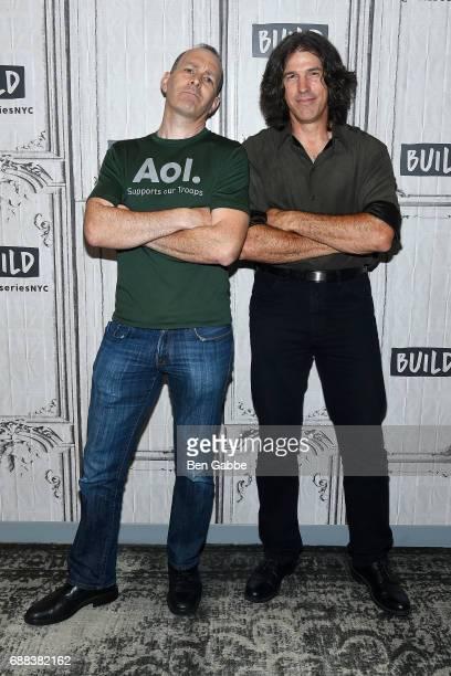 Moderator Peter Vanderloo and actor/filmmaker Benjamin Busch attend the Build Series at Build Studio on May 25 2017 in New York City