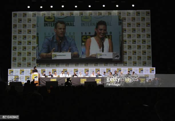 Moderator Reggie Watts actors Shannon Woodward Luke Hemsworth Angela Sarafyan Ben Barnes Jeffrey Wright and Evan Rachel Wood writer/producer Jonathan...
