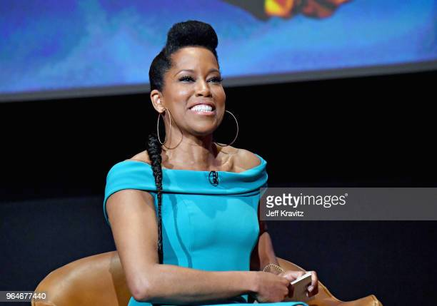 Moderator Regina King speaks onstage at Insecure FYC at Television Academy on May 31 2018 in Los Angeles California