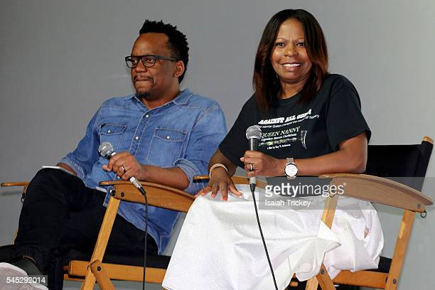 Moderator Ricardo McRae and filmmaker Alison Anderson attend the CaribbeanTales International Film Festival media launch at Royal Cinema on July 6...