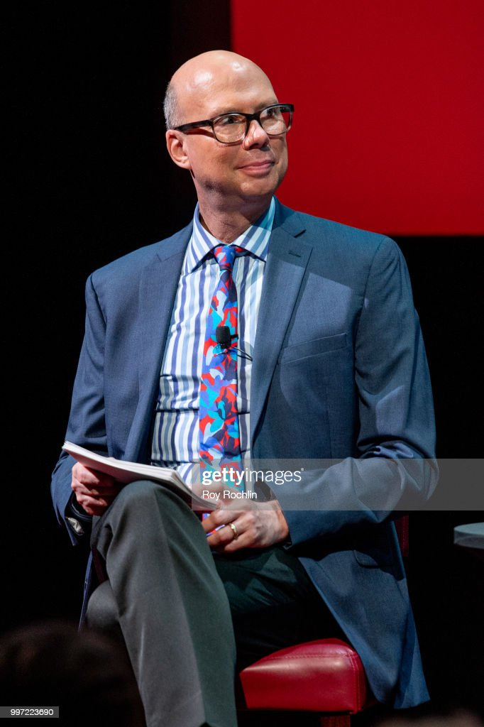 Moderator Richard Ridge on stage during SAG-AFTRA Foundation's Conversations on Broadway with Matt Bomer at The Robin Williams Center on July 12, 2018 in New York City.