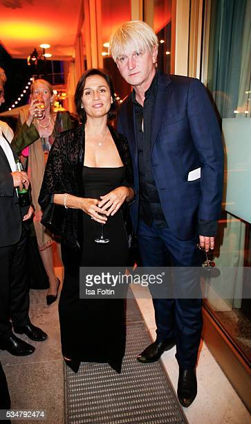 Moderator Sandra Maischberger and german actor Detlev Buck attend the German Film Award After Show Party at Palais am Funkturm on May 27 2016 in...