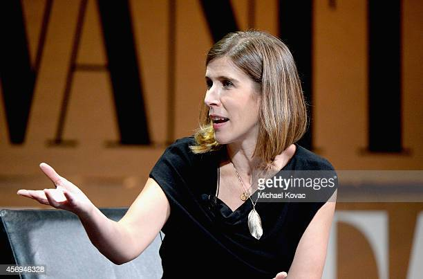 Moderator Sarah Ellison speaks onstage during The Golden Age of Drama at the Vanity Fair New Establishment Summit at Yerba Buena Center for the Arts...