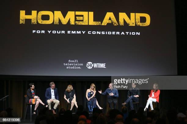 Moderator Stacy Wilson Hunt executive producer/cocreator/showrunner Alex Gansa executive producer/ director Lesli Linka Glatter actress Claire Danes...