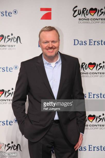 Moderator Stefan Raab poses at photocall after the TV show 'Unser Song fuer Deutschland' on February 18, 2011 in Cologne, Germany.