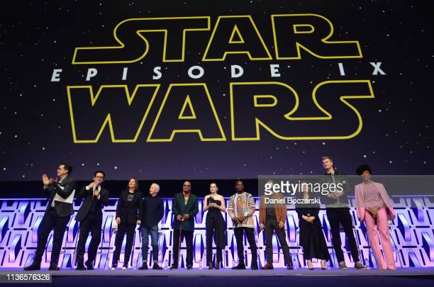 Moderator Stephen Colbert, Director J.J. Abrams, Producer Kathleen Kennedy, Anthony Daniels , Billy Dee Williams , Daisy Ridley , John Boyega , Oscar...