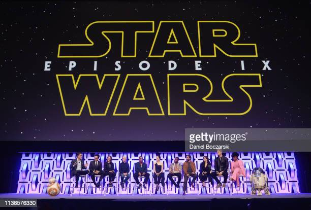 BB8 Moderator Stephen Colbert Director JJ Abrams Producer Kathleen Kennedy Anthony Daniels Billy Dee Williams Daisy Ridley John Boyega Oscar Isaac...