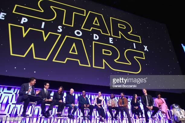 Moderator Stephen Colbert Director JJ Abrams Producer Kathleen Kennedy Anthony Daniels Billy Dee Williams Daisy Ridley John Boyega Oscar Isaac Kelly...