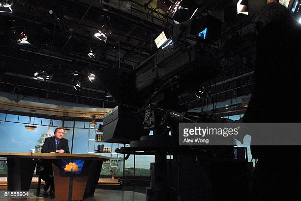 Moderator Tim Russert speaks during a taping of Meet the Press in this file photo from November 4 2001 in Washington DC Russert died June 13 2008 of...