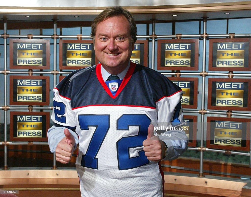 Tim Russert Dead Of Heart Attack : News Photo