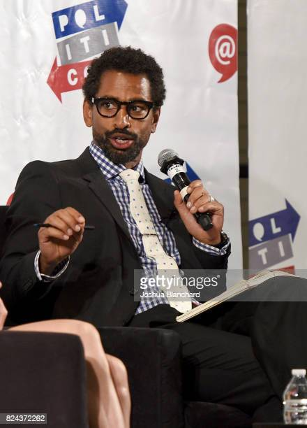 Moderator Toure at 'Ann Coulter vs Ana Kasparian' panel during Politicon at Pasadena Convention Center on July 29 2017 in Pasadena California