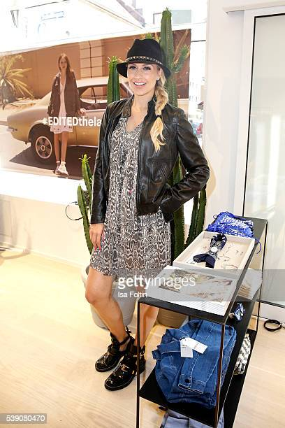Moderator Verena Kerth attends the EDITEDthelabel Store Event on June 9, 2016 in Munich, Germany.