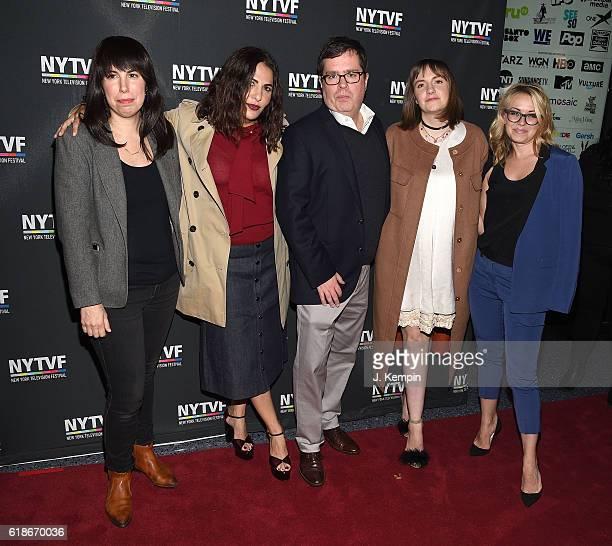 Moderator Willa Paskin Executive Producer Jennifer Konner Founder and Executive Ditector of NYTVF Terence Gray actress Lena Dunham and Vice President...