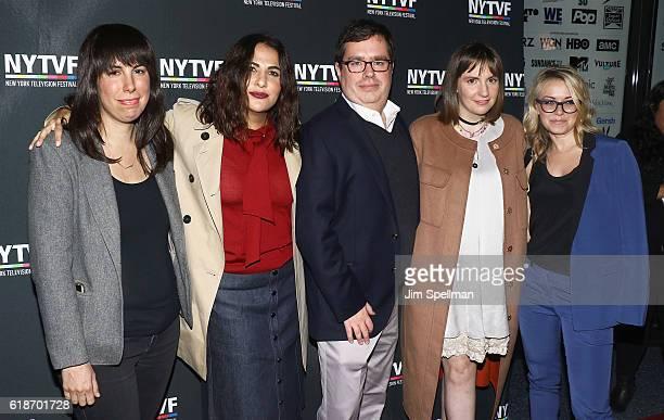 Moderator Willa Paskin Executive Producer Jennifer Konner Founder and Executive Director of NYTVF Terence Gray actress Lena Dunham and Vice President...