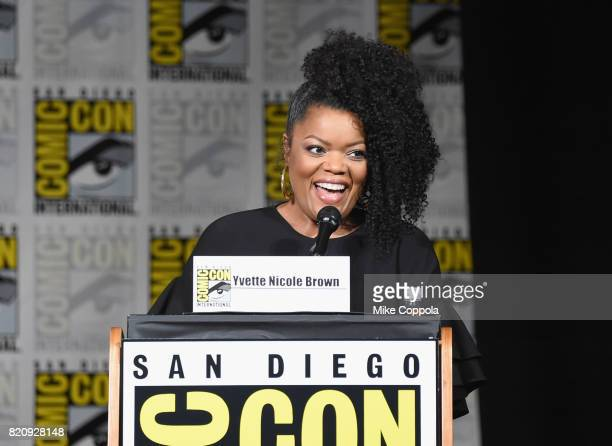 Moderator Yvette Nicole Brown attends ABC's 'Once Upon A Time' panel during ComicCon International 2017 at San Diego Convention Center on July 22...