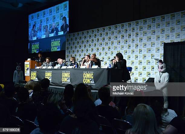 Moderator Yvette Nicole Brown writer/executive producers Bryan Fuller Michael Green actress Kristin Chenoweth director David Slade Bruce Langley...