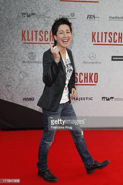 """Moderatorin Dunja Hayali Bei Der Kinopremiere """"Klitschko"""" Im Cinestar Am Potsdamer Platz In Berlin"""