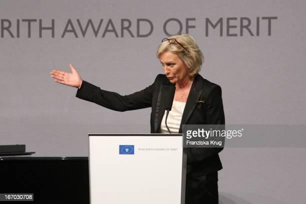 Moderatorin Sabine Christiansen Bei Der Verleihung Des B'Nai B'Rith Europe Award Of Merit Im Mariott Hotel In Berlin Am 110308