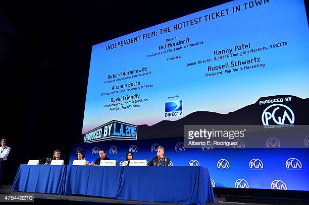 Moderator/President and CEO, Landmark Theatres Ted Mundorff, President, Abramorama Entertainment Richard Abramowitz, SVP Acquisitions and Production,...