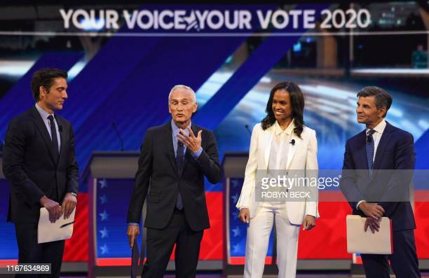 Moderators ABC journalist David Muir USMexican journalist Jorge Ramos Newscaster Linsey Davis and Former White House Communications Director George...